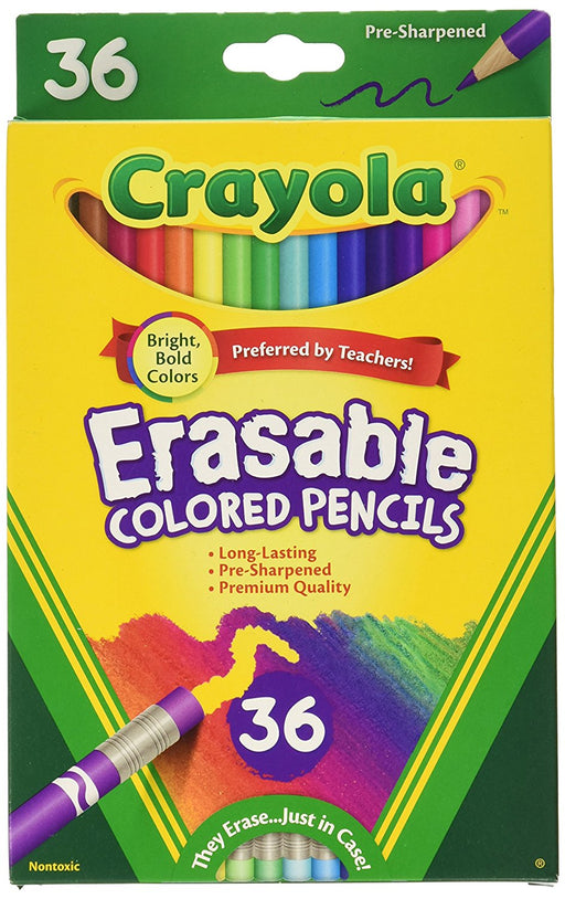 Crayola; Erasable Colored Pencils; Art Tools; 36 Count; Perfect for Art Projects and Adult Coloring