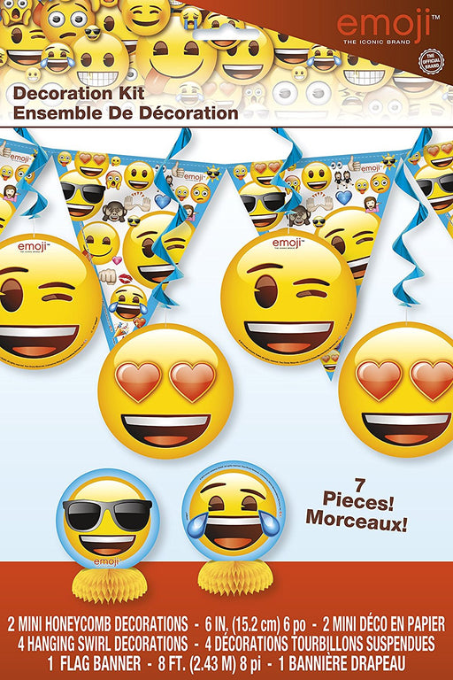 Emoji Party Decorations, Pack of 7 Items
