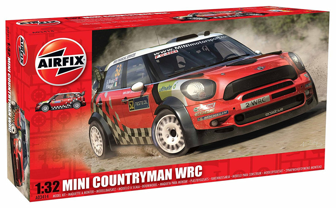Airfix 1:32 Mini Countryman WRC Car Model Kit