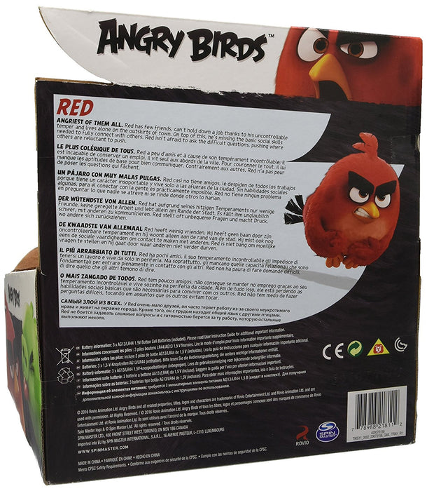 Angry Birds 12-Inch Talking Plush Toy (Red)