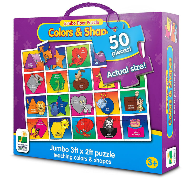 The Learning Journey Jumbo Floor Puzzles - Colors and Shapes