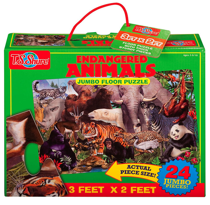"T.S.Shure 1136.0 ""Endangered Animals"" Jumbo Floor Puzzle"