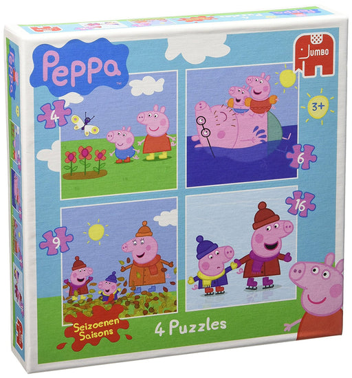 Peppa Pig 18487 Jigsaw Puzzles in a Box (4/6/9/16-Piece)