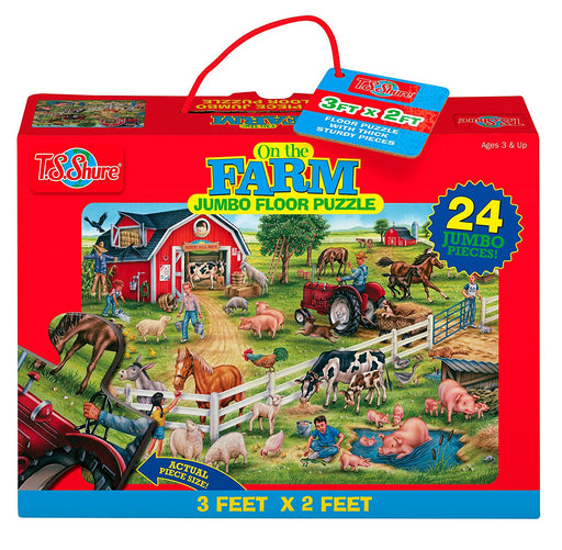 T.S. Shure 1130 On the Farm Jumbo Floor Puzzle