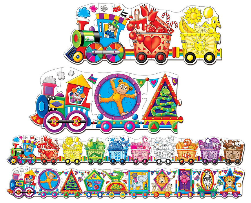 The Learning Journey 109564 Doubles Giant Colors and Shapes Train Floor Puzzle