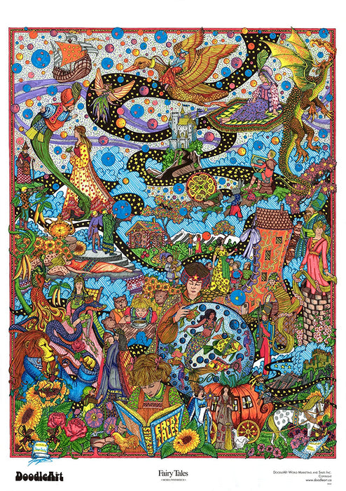 The Original Doodle Art Fairy Tales Adult Coloring Poster — TopToy ...