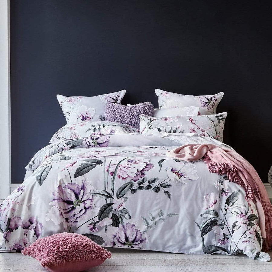 ALI SILVER QUILT COVER SET - MyHouse