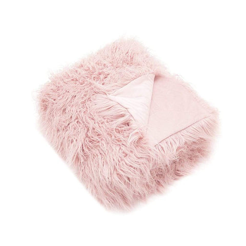BALLET PINK ASTRAKHAN THROW - MyHouse