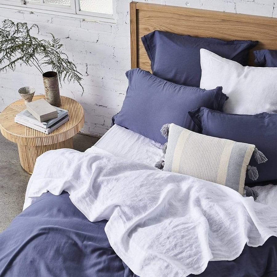 BAMBOO LINEN MIDNIGHT QUILT COVER SET - MyHouse