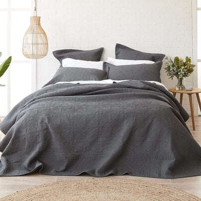 FLORENCE CHARCOAL COVERLET SET - MyHouse