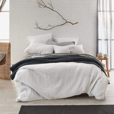 JERSEY CLOUD QUILTED QUILT COVER SET - MyHouse