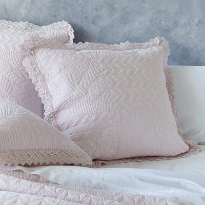 KIMBERLEY PINK EUROPEAN PILLOWCASE - MyHouse