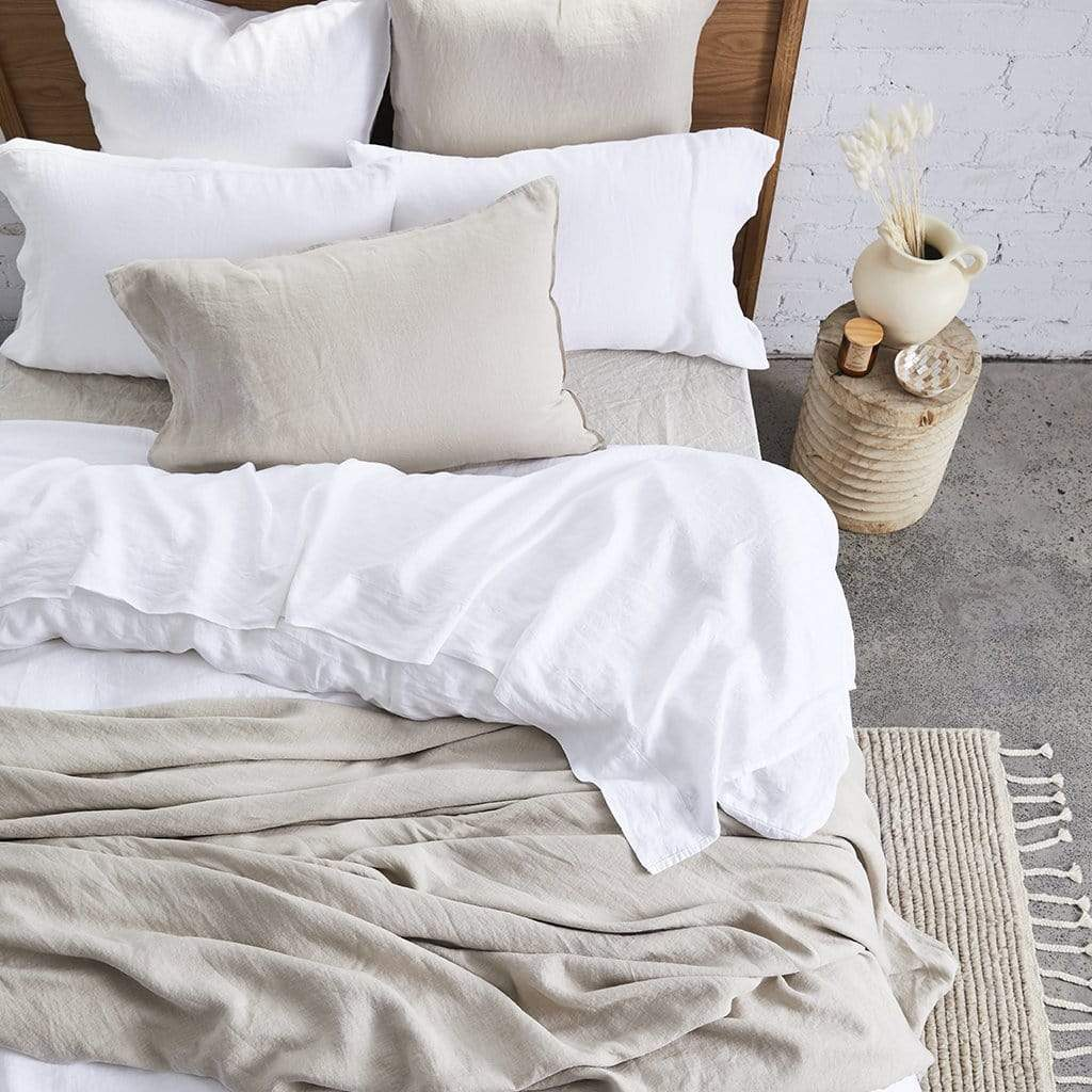 PURE EUROPEAN LINEN QUILT COVER SET NATURAL - MyHouse