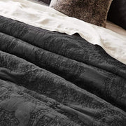 ROCHELLE CHARCOAL QUILTED QUILT COVER SET - MyHouse