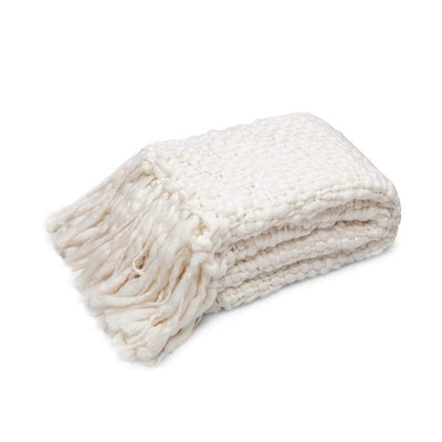 SILK CREAM ESTELLE THROW - MyHouse