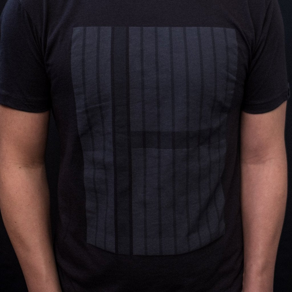 12 columns aka the grid - black on black minimal t-shirt for ux, ui and product designers