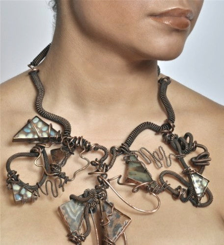 Statement Copper Wire Necklace