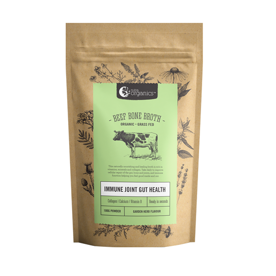Beef Bone Broth Powder - Garden Herb - 100g