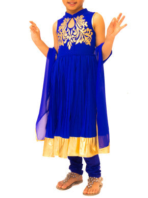 Royal Blue Anarkali set - BY ELORA