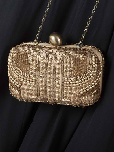 Santi gold box clutch