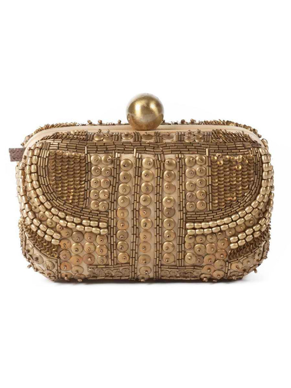 Santi gold box clutch - BY ELORA