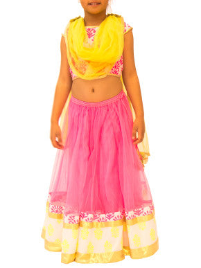 Neon pop lehenga set