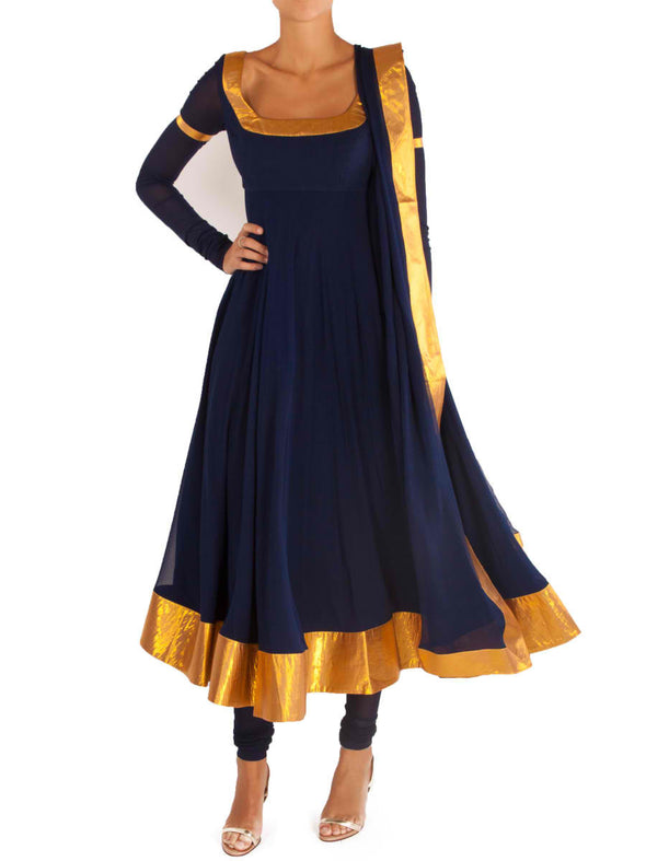 Navy Anarkali - BY ELORA