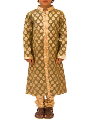 Boys Cotton Brocade Kurta - BY ELORA