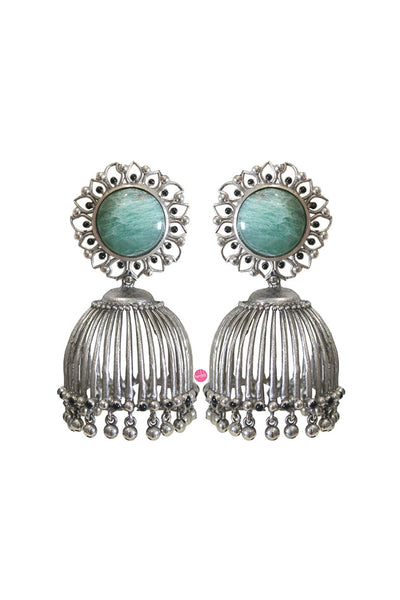 Statement jhumki earrings - BY ELORA