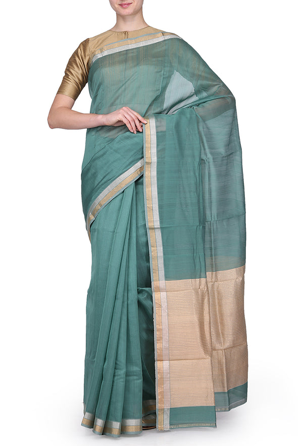 Raw Mango aqua saree