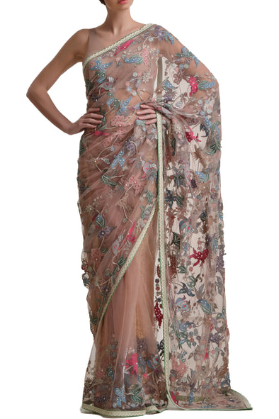 Mansi Malhotra blush pink saree - BY ELORA