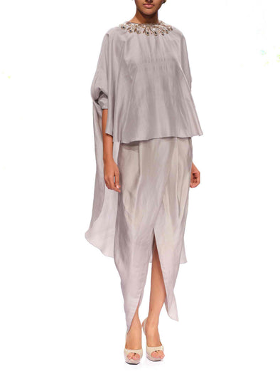 Benazir Cape Dhoti Set