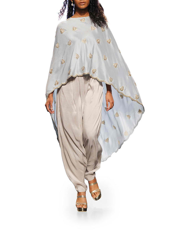 Payal Singhal Ittar Cape Tunic Set - BY ELORA