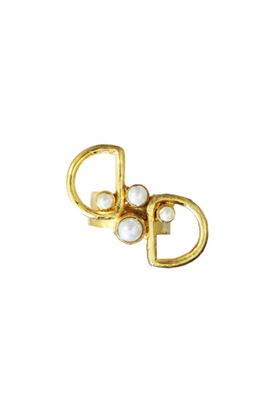 Pearl Geometry Ring