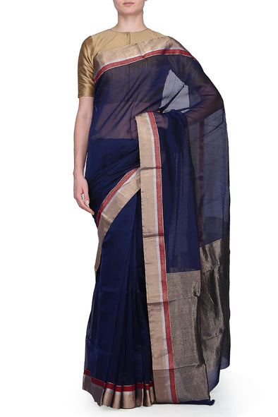 Raw Mango silk cotton and gold saree