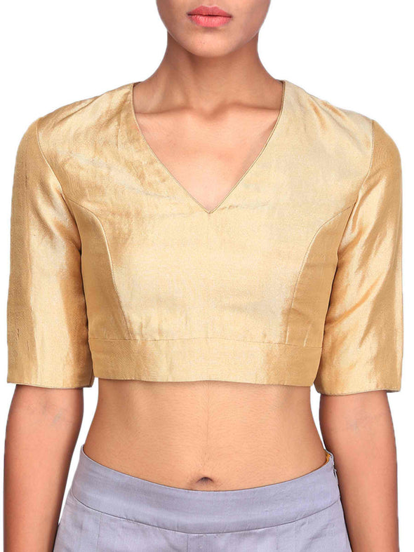 Raw Mango gold v neck blouse