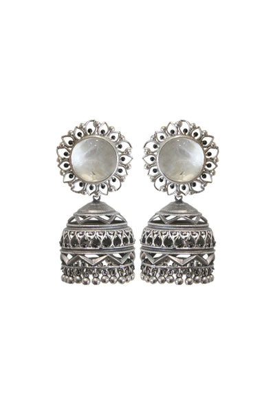 Nakshi Earrings Clear Quartz