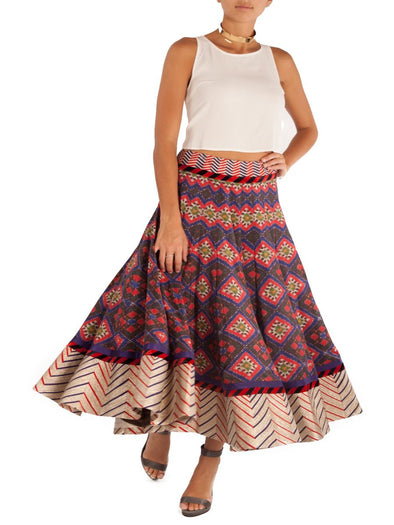 Indore Midi ikat skirt