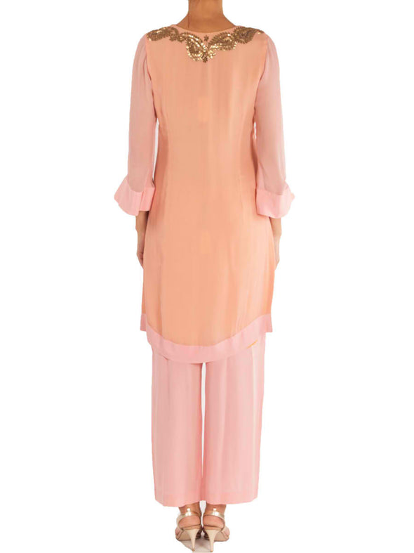 Pink tunic with pants