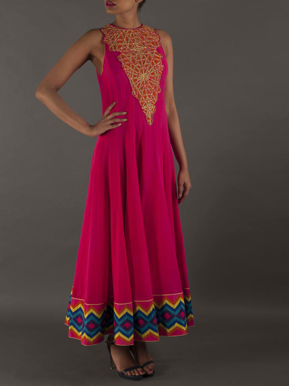 Surat Fuschia Anarkali - BY ELORA