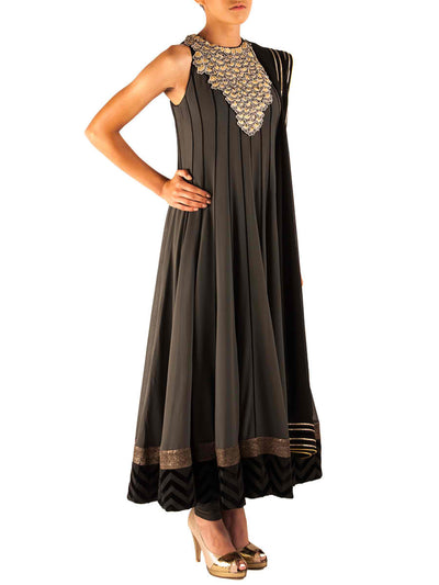 Agra charcoal anarkali - BY ELORA