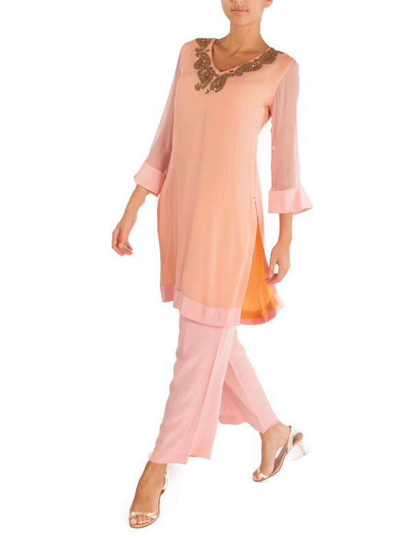 Pink tunic with pants - BY ELORA