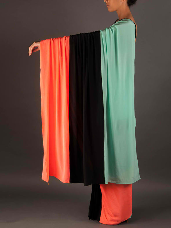 Colour block resort saree - BY ELORA