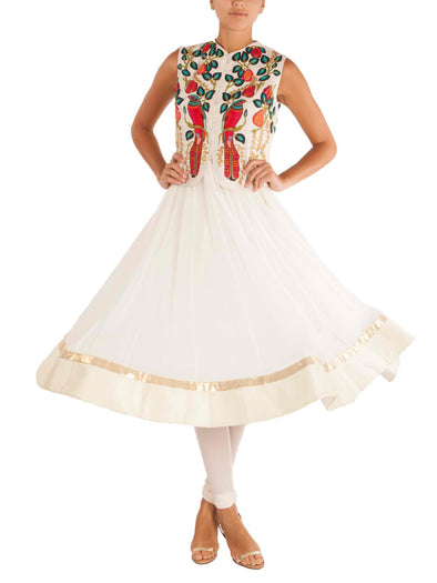 Off white Eden bird piece and anarkali
