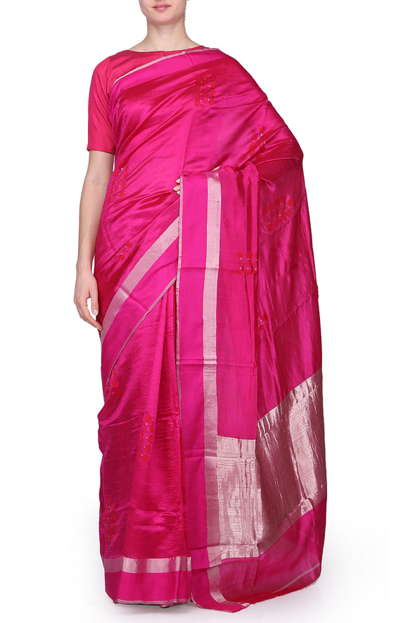 Raw Mango pink saree
