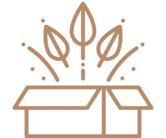Icon of leaves coming out of box