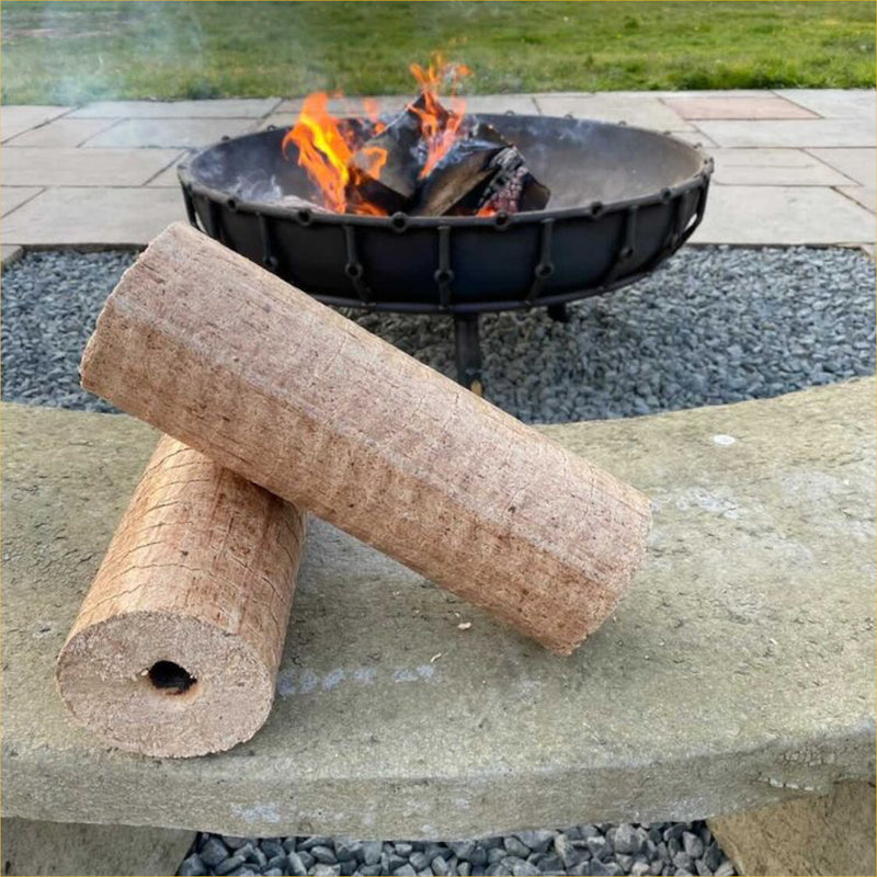 Lekto Heat Logs In Front Of A Fire Pit