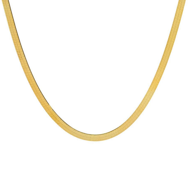 COLLAR HERRINGBONE GOLD