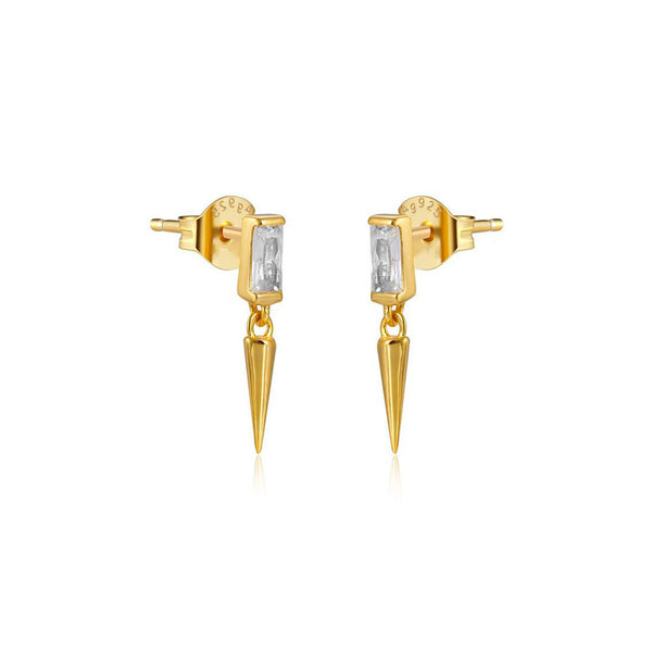 BAGUETTE GOLD EARRINGS
