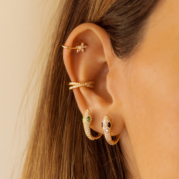 BOA GOLD EARRINGS